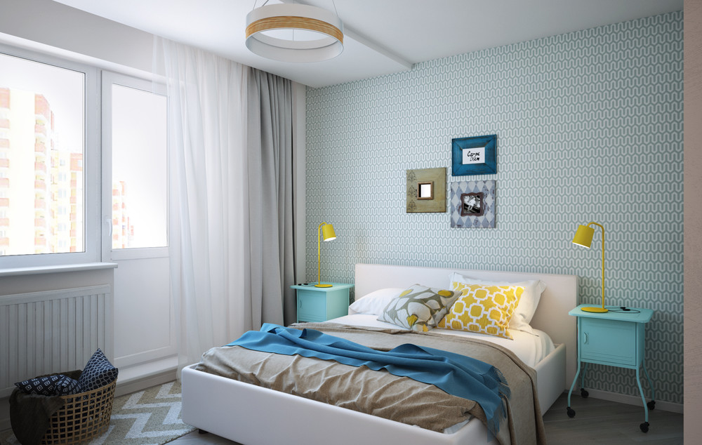 Интерьер спальни в маленькой квартире