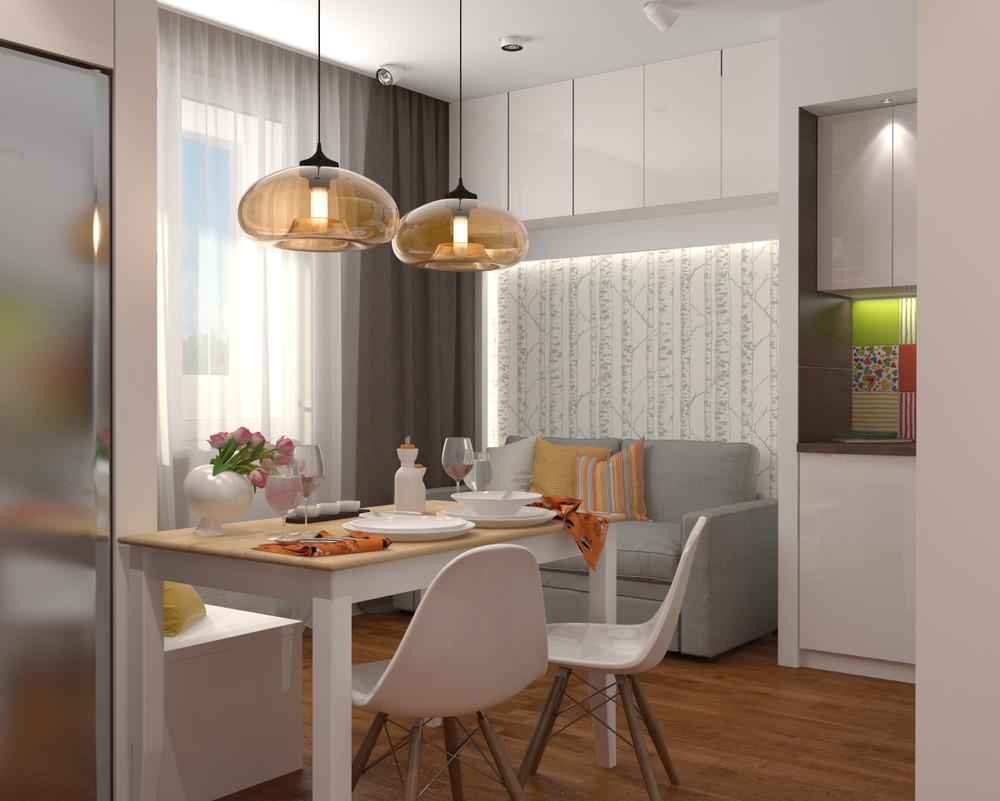 Интерьер квартиры с открытой планировкой