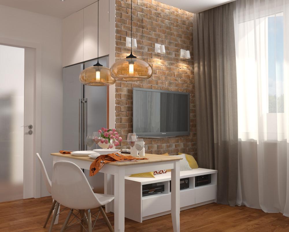 Интерьер столовой в маленькой квартире