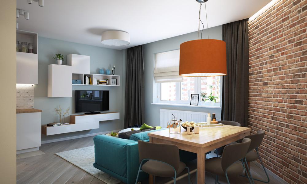 Интерьер квартиры меньше 50 м2