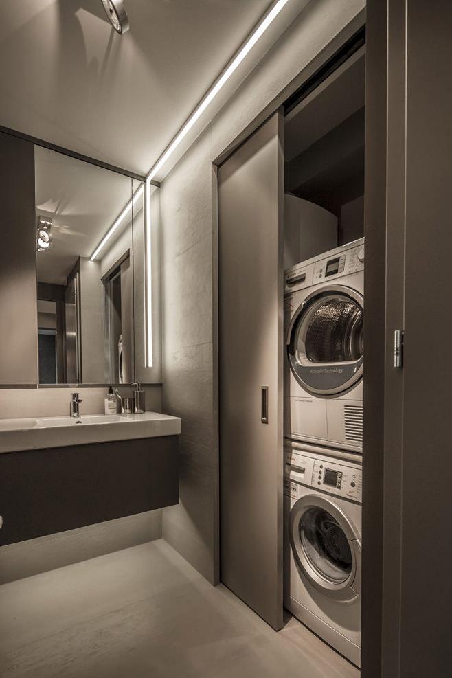 Прачечная стильной квартиры для холостяка