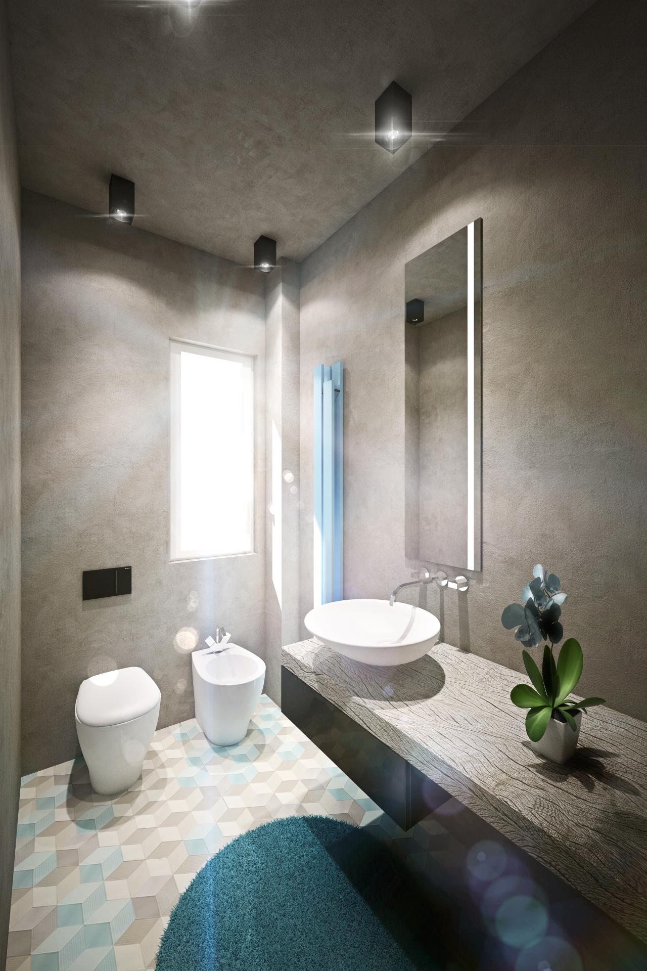 Дизайн квартиры в пастельных тонах: ванная