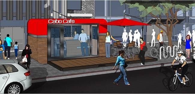 Дизайн маленького кафе от Studio Cabo