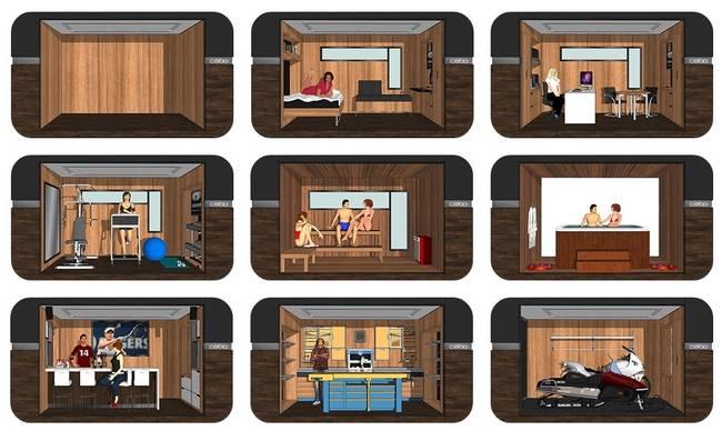 Трансформируемая мебель в дизайне маленького дома от Studio Cabo
