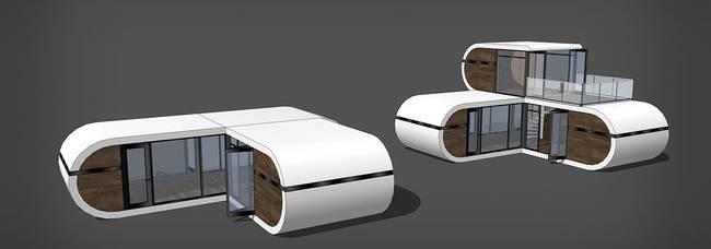 Дизайн маленького модульного дома от Studio Cabo