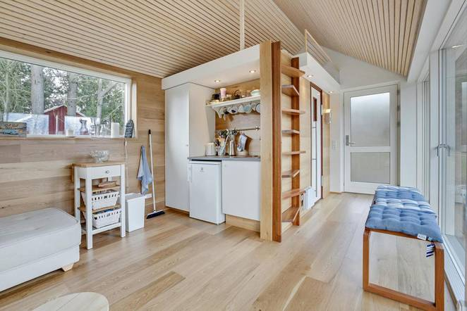 Дизайн маленького частного дома в Дании