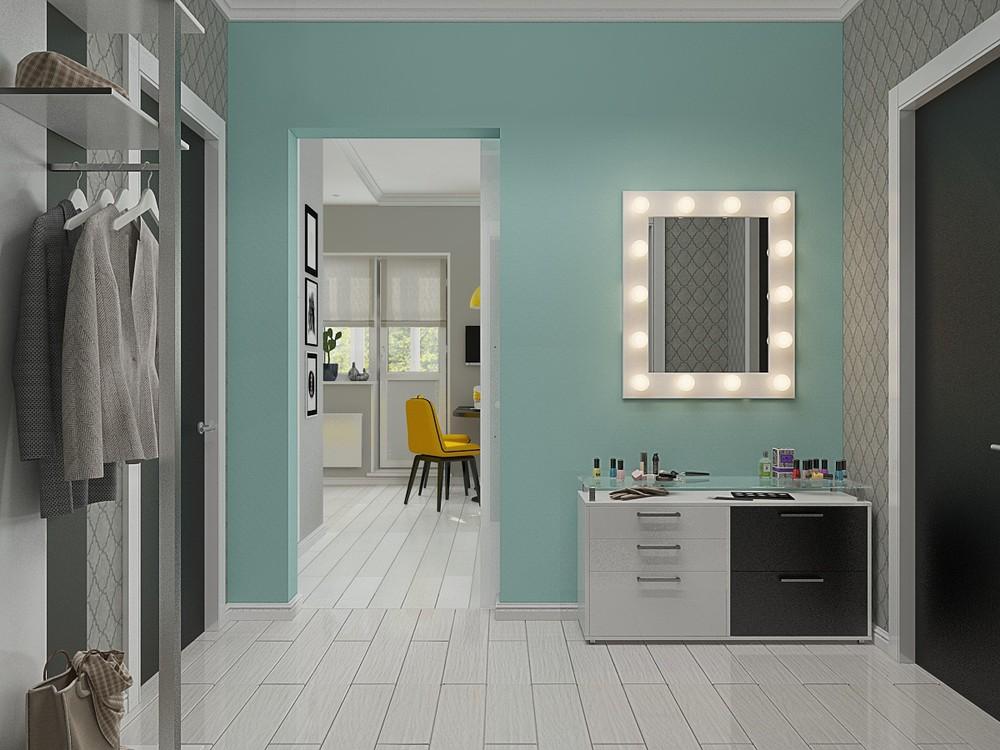 Зеркало в подсветкой в маленьком доме