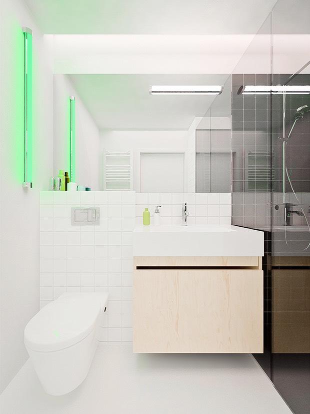 Яркая подсветка в ванной