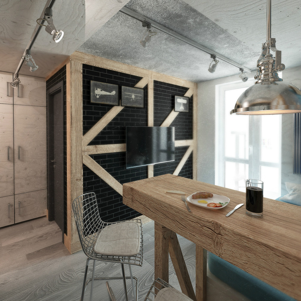 Интерьер кухни в промышленном стиле
