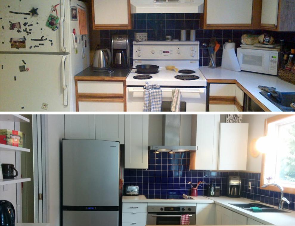 Дизайн маленькой кухни с электроплитой