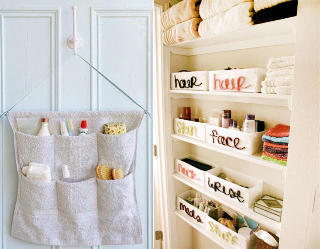Хранение вещей в ванной своими руками