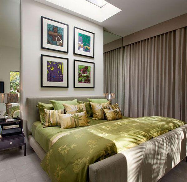 Зеркала и драпировки в оформлении спальни