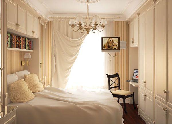 Роскошная спальня в молочном цвете