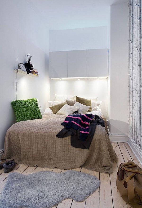 Маленькая спальня в натуральных тонах