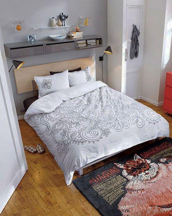 Яркие аксессуары в интерьере спальни