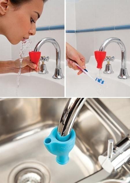 Насадка на смеситель для чистки зубов