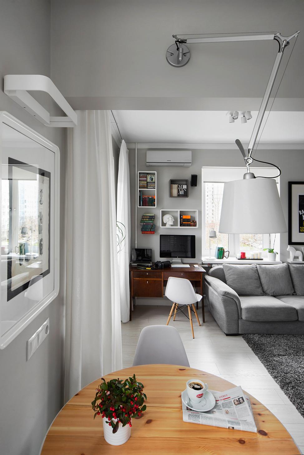 Столовая и кабинет в гостиной