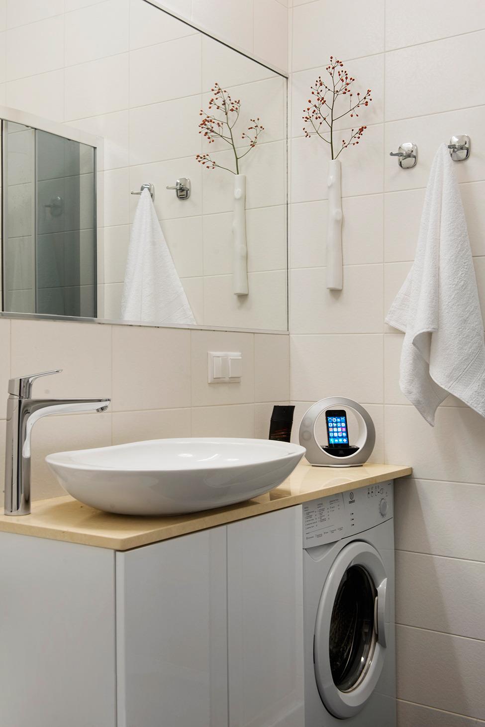 Оригинальная раковина в ванной