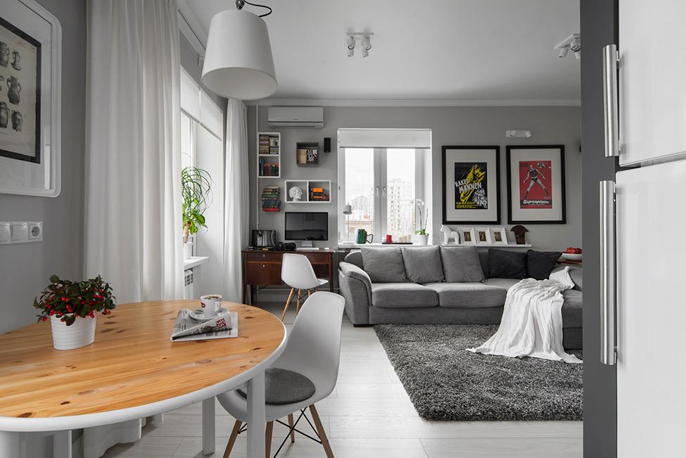 Столовая зона в гостиной