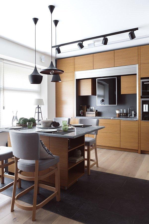 Кухня и столовая в натуральной палитре