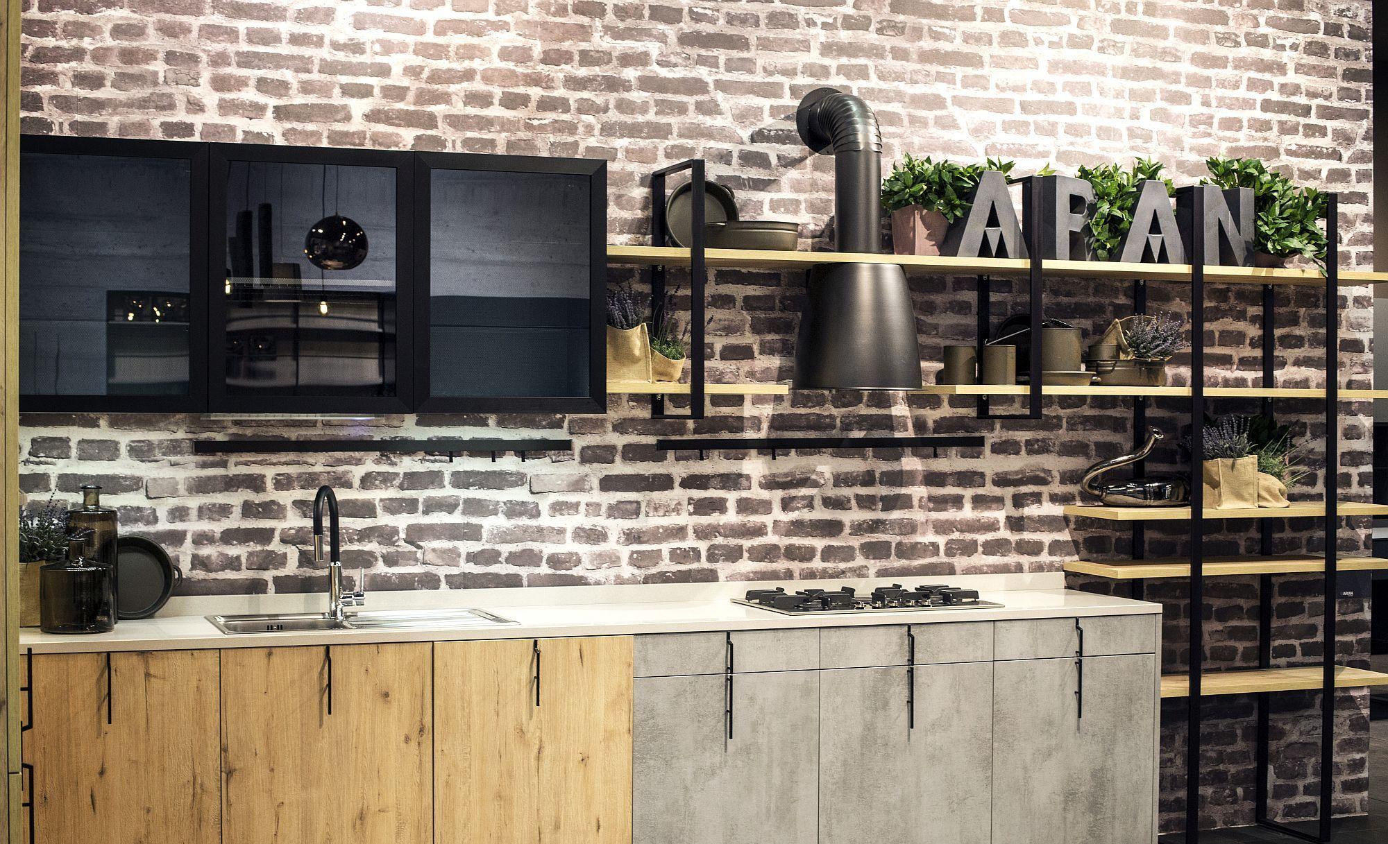 Дизайн мебели для маленькой кухни в стиле лофт - фото 1