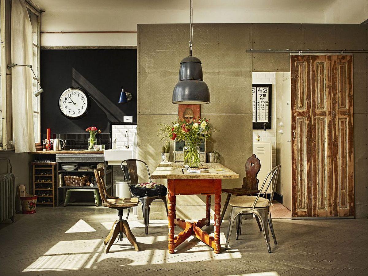 Современный дизайн интерьера и мебели для маленькой кухни. Компактное размещение мебели  - фото 1