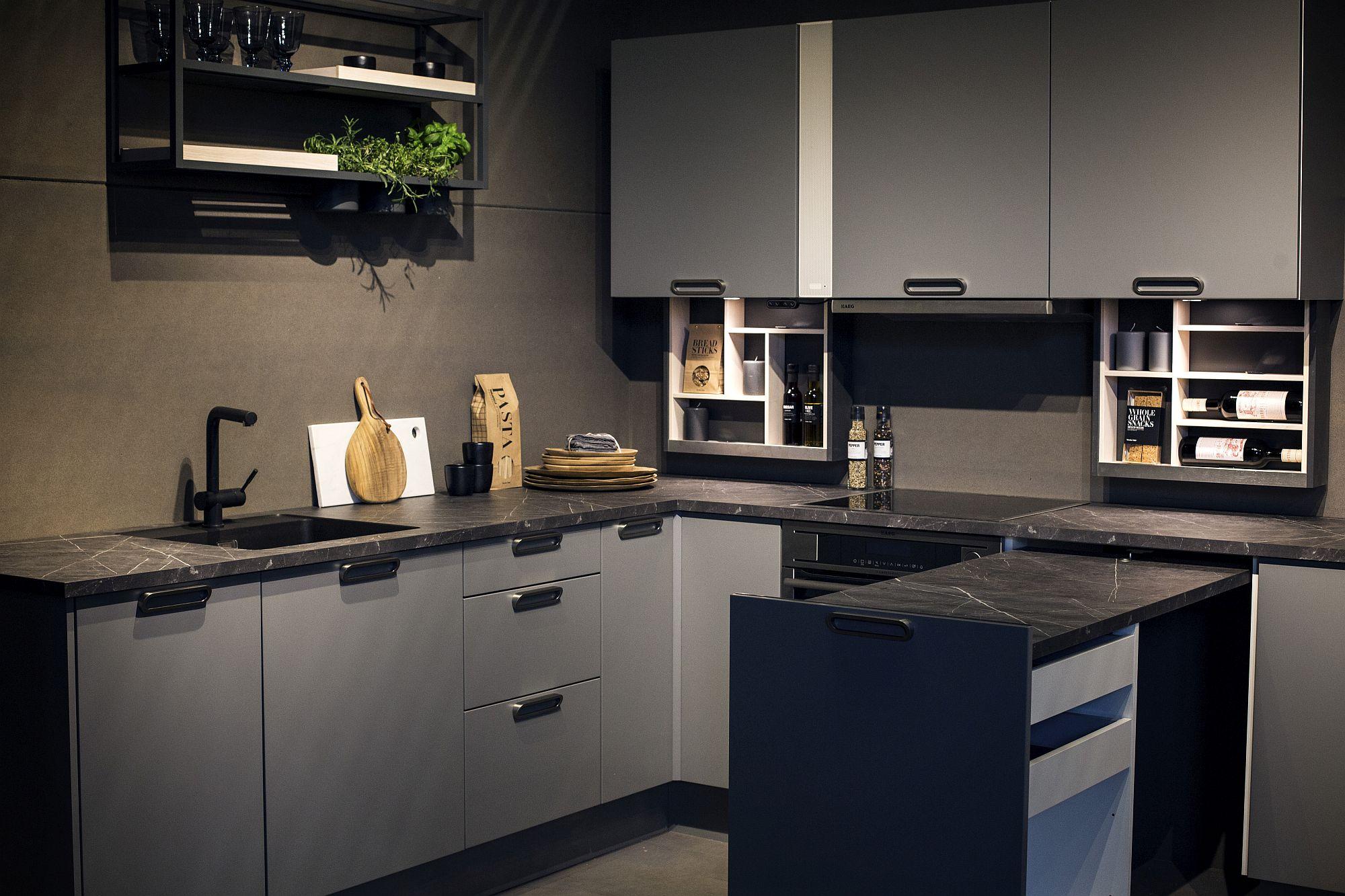 Современный дизайн интерьера и мебели для маленькой кухни. Компактное размещение мебели  - фото 3
