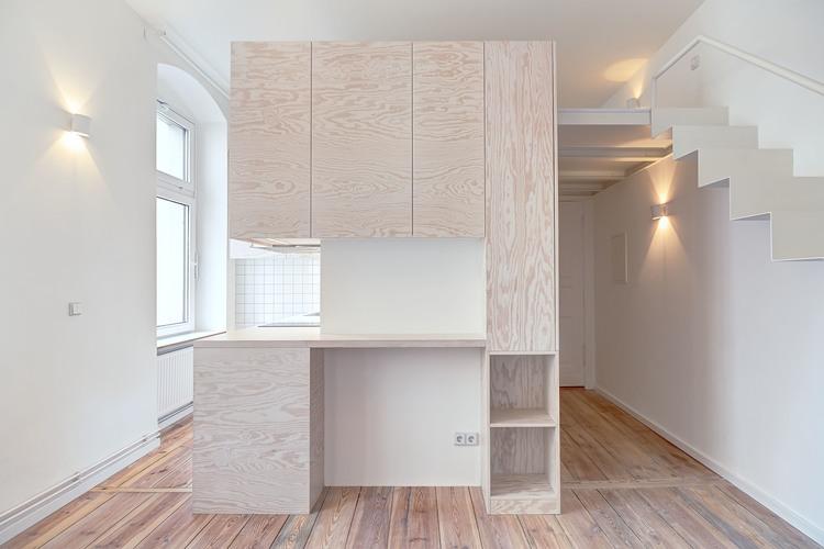 Маленькая квартира с открытой планировкой