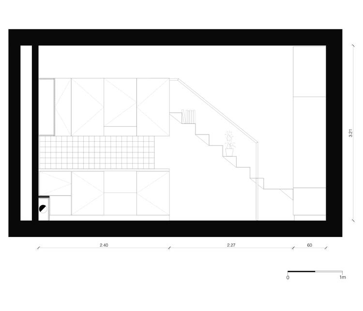 Планировка первого уровня квартиры - вид сбоку