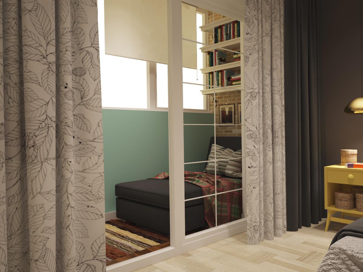 Дизайн небольшой квартиры для холостяка в скандинавском стил.