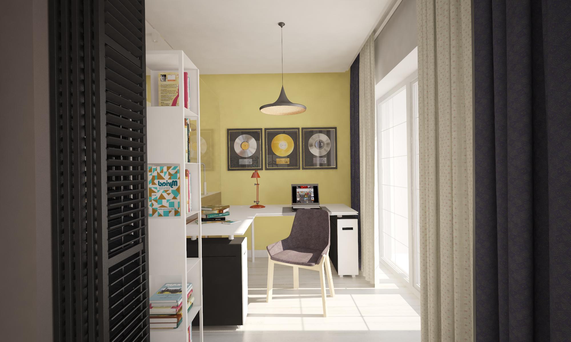Рабочий уголок в небольшой квартире