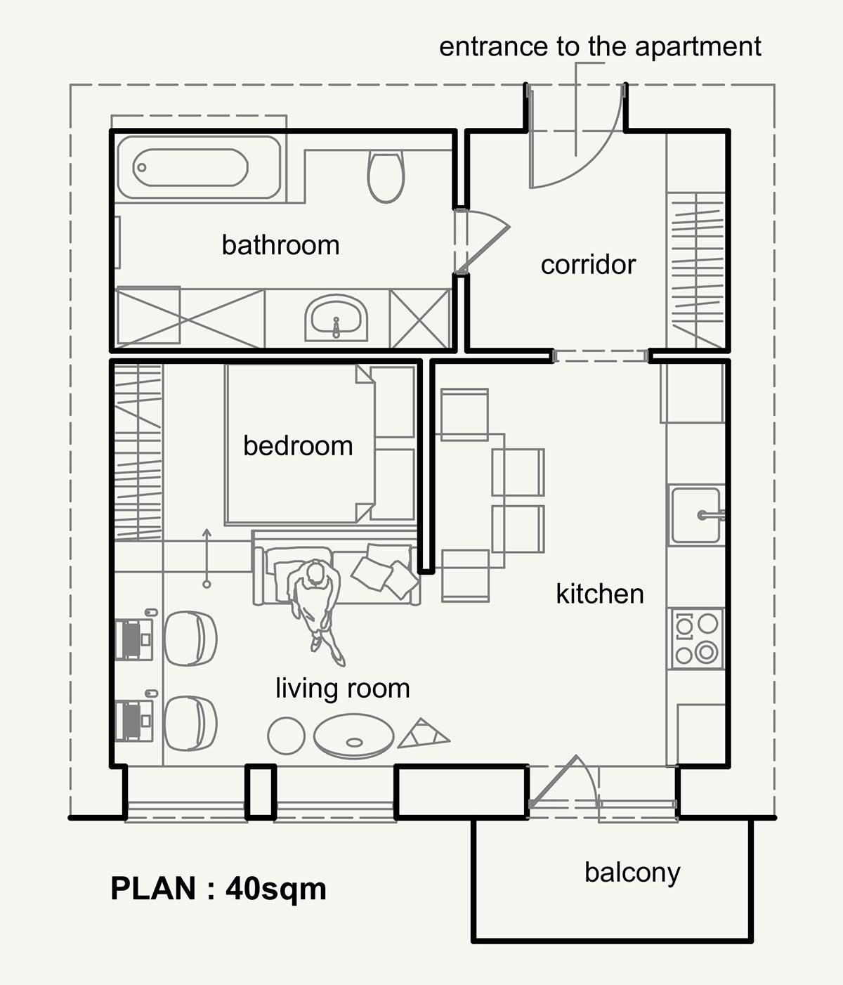 Планировка небольшой современной квартиры