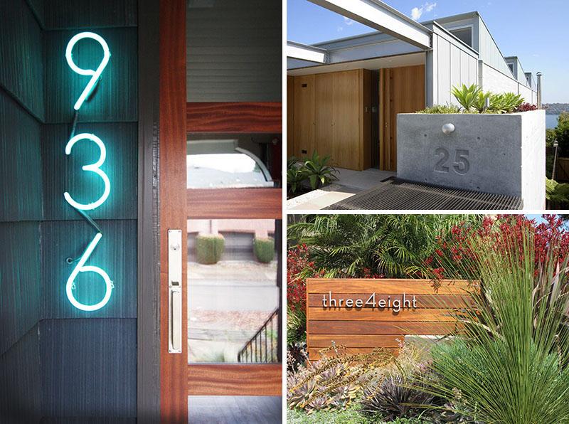 Оригинальный дизайн номера дома