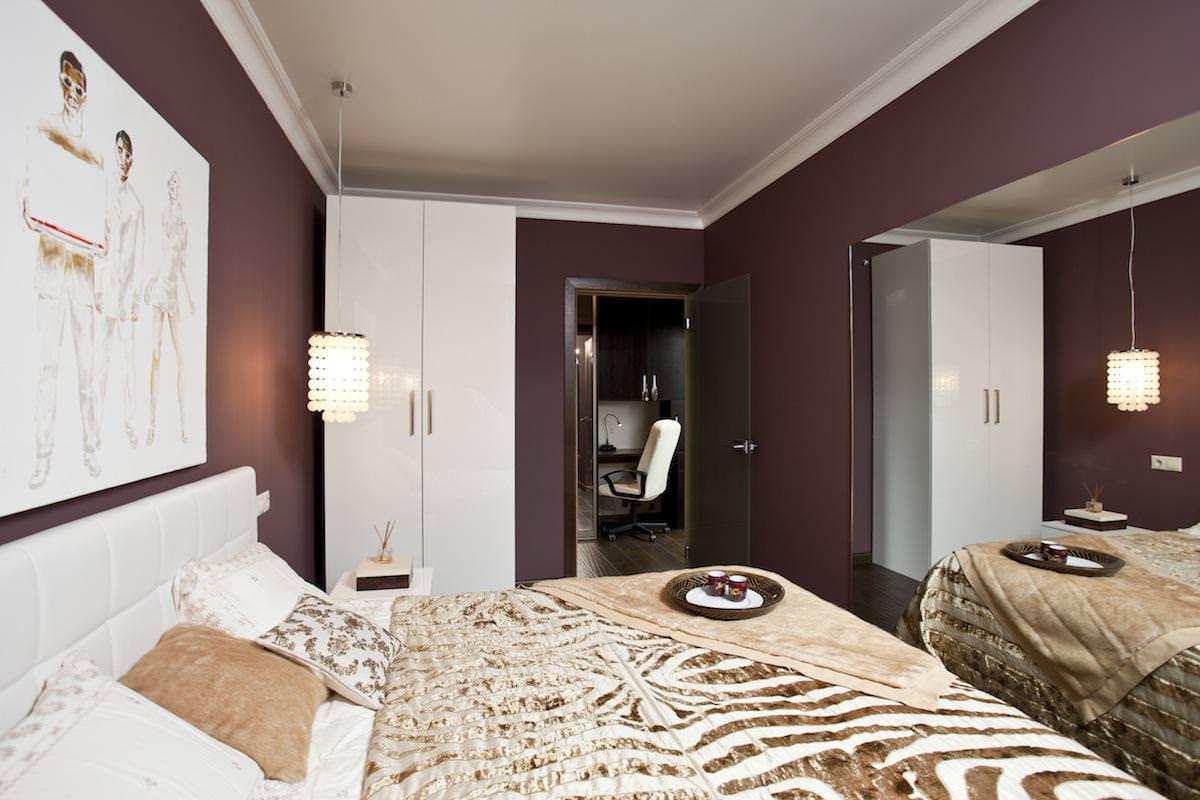 Спальня стильной квартиры в Москве