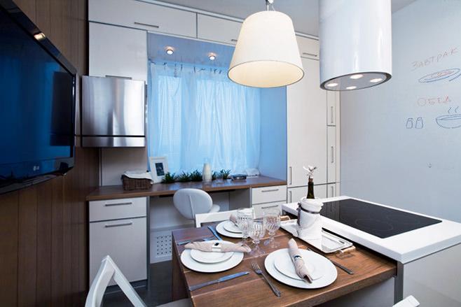 Вытяжка с подсветкой на кухне