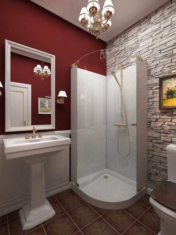 Интерьер ванны, совмещенной с туалетом