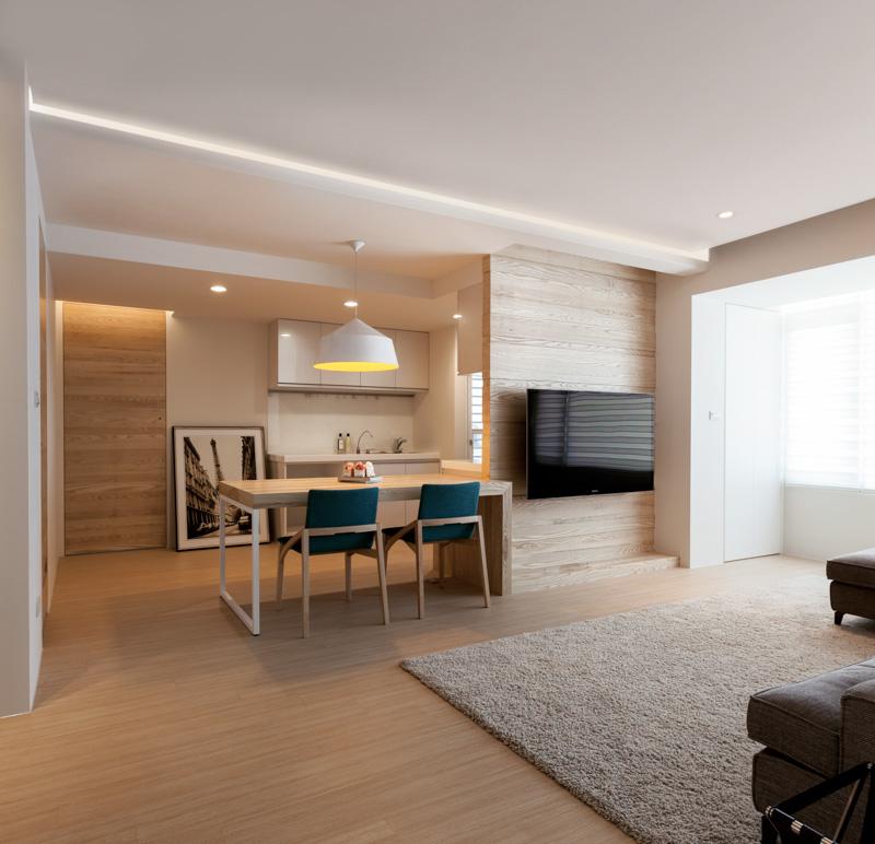 Минимализм в дизайне трёхкомнатной квартиры