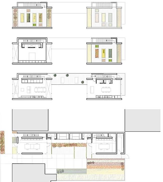Дизайн узкого дома. Планировка узкого дома - фото 1