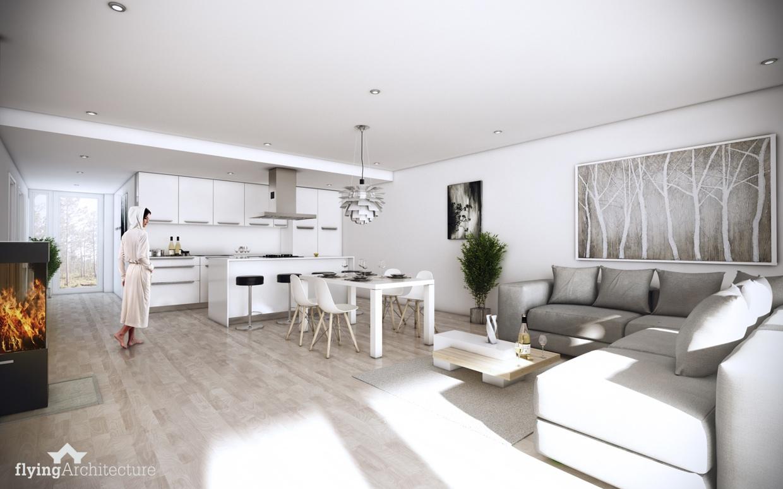 Интерьер дизайнерской квартиры-студии от Flying Architecture