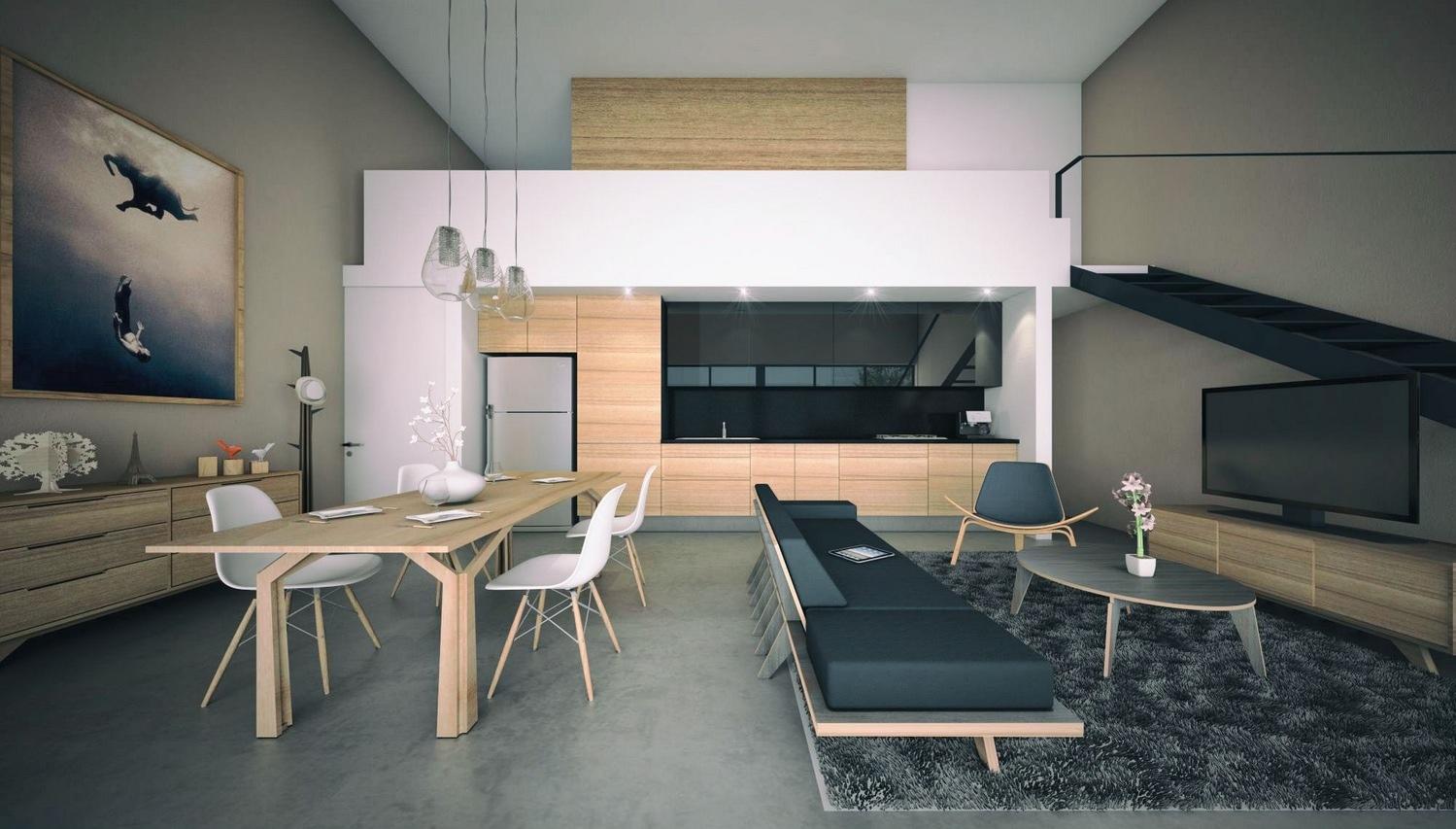 Интерьер дизайнерской квартиры-студии от Arturo Hermenegildo