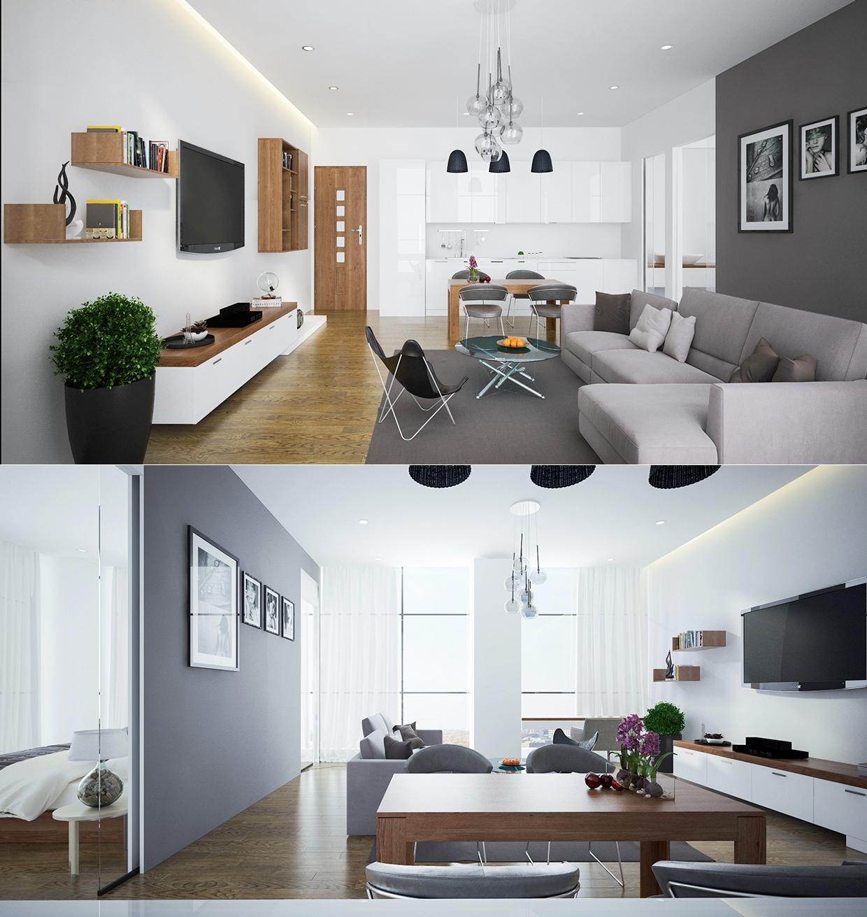 Интерьер дизайнерской квартиры-студии от Trưởng Trần
