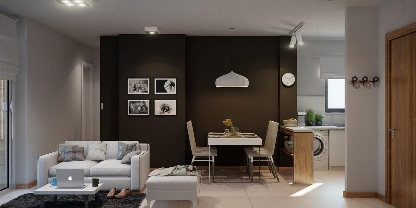 Интерьер дизайнерской квартиры-студии от Architectural Visualization