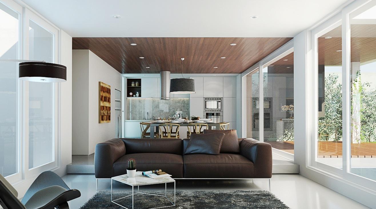 Интерьер дизайнерской квартиры-студии от Buenavista Architectural Visualization