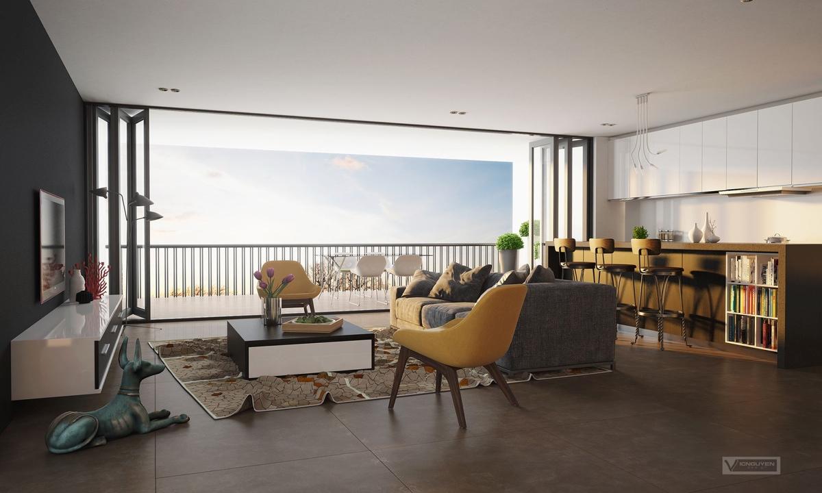 Интерьер дизайнерской квартиры-студии от Vic Nguyen