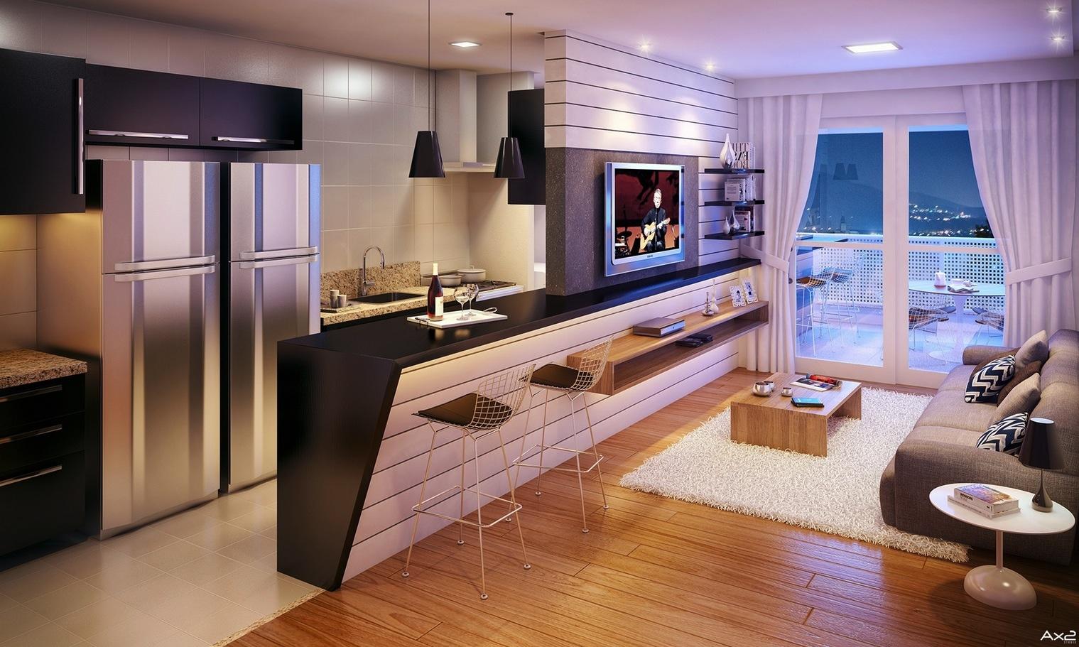 Интерьер дизайнерской квартиры-студии от Imagine3D