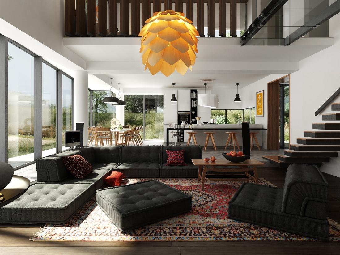 Интерьер дизайнерской квартиры-студии от Egar Zeimanis
