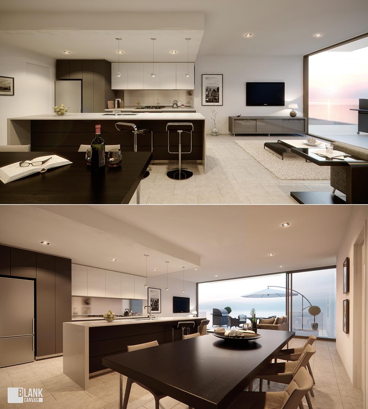 Интерьер дизайнерской квартиры-студии от Blank Canvas
