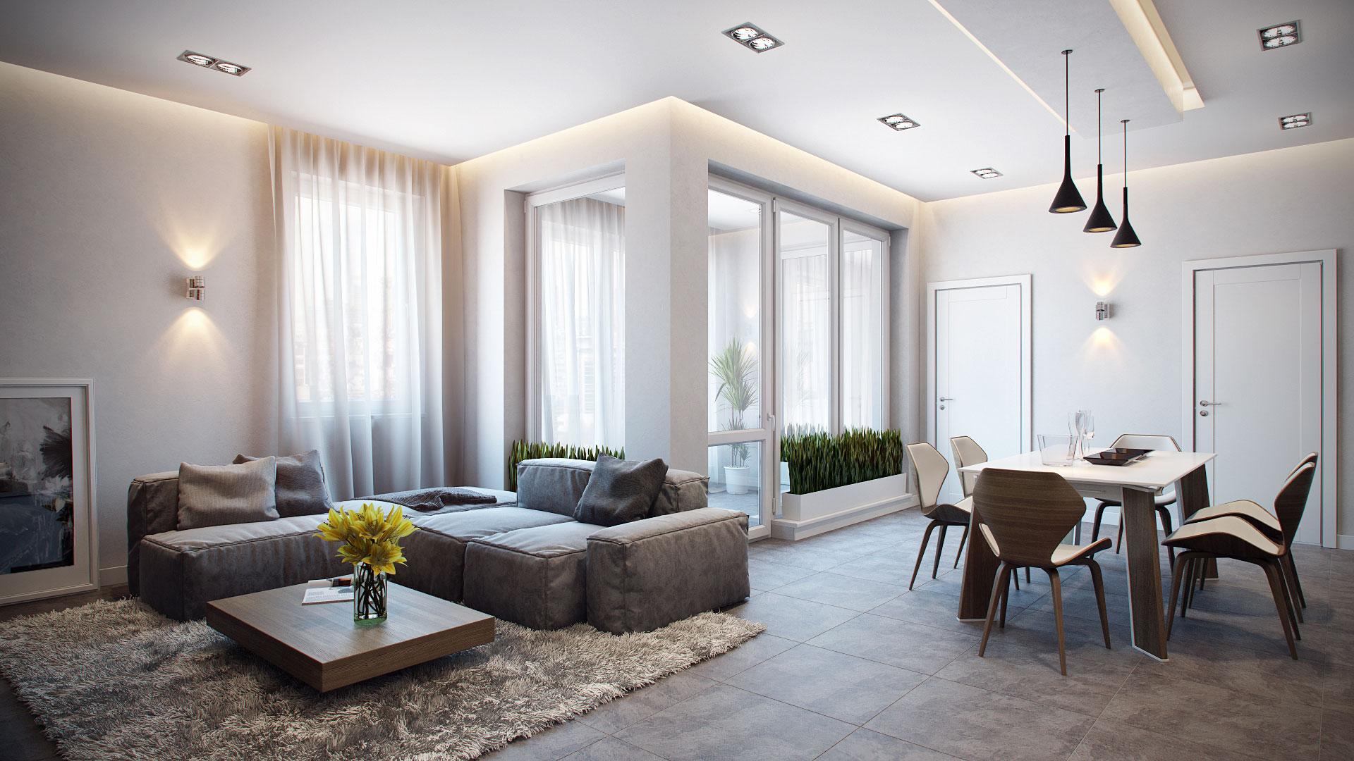 Интерьер дизайнерской квартиры-студии от Александра Зензуро