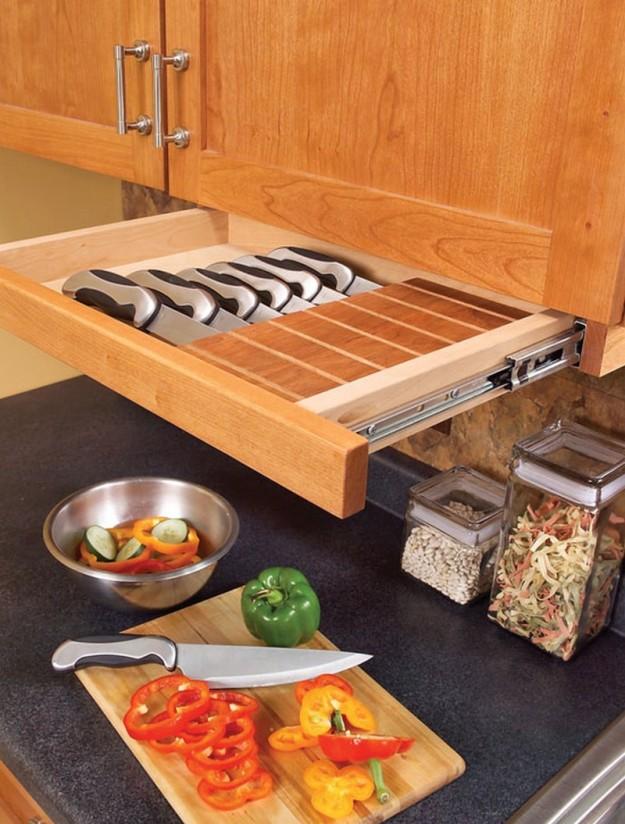Удобный ящик для ножей