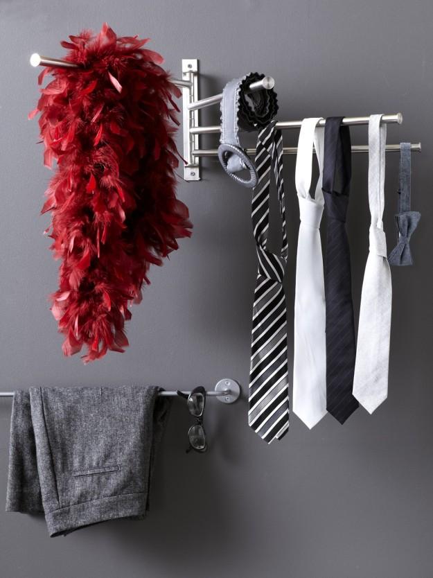 Полотенцедержатель для хранения галстуков